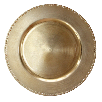 HORECANO-Подложна чиния с релефен кант 33 cm ЗЛАТНА (T119)