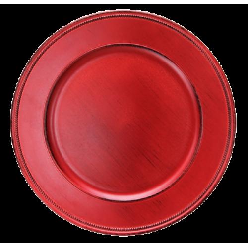 HORECANO-Подложна чиния VINTAGE 33 cm ЧЕРВЕНА (HA295MP-R)