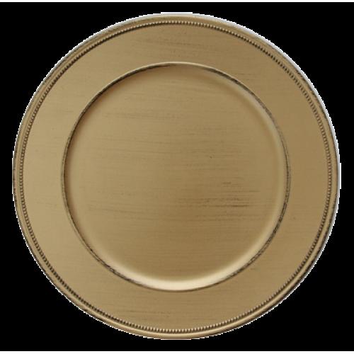 HORECANO-Подложна чиния VINTAGE 33 cm ЗЛАТНА (HA295MP-R)