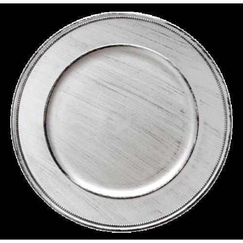 HORECANO-Подложна чиния VINTAGE 33 cm СРЕБРО (HA295MP-R)
