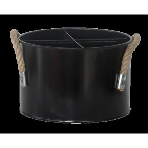 HORECANO-Метална стойка за бутилки ЧЕРНА d17xh11 cm (HC-16209)