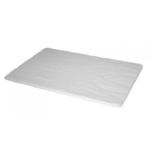 "AN-Правоъгълно плато 26x32cm GN 1/2 тип ""Каменна плоча"" БЯЛО (K 9500"