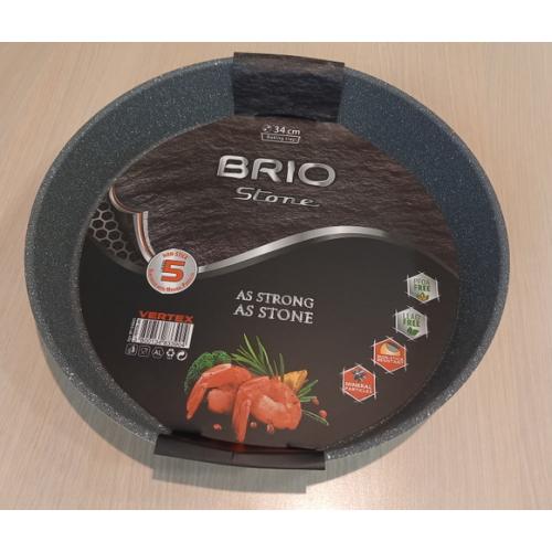 BRIO Stone - Тава кръгла 34см, с незалепващо покритие