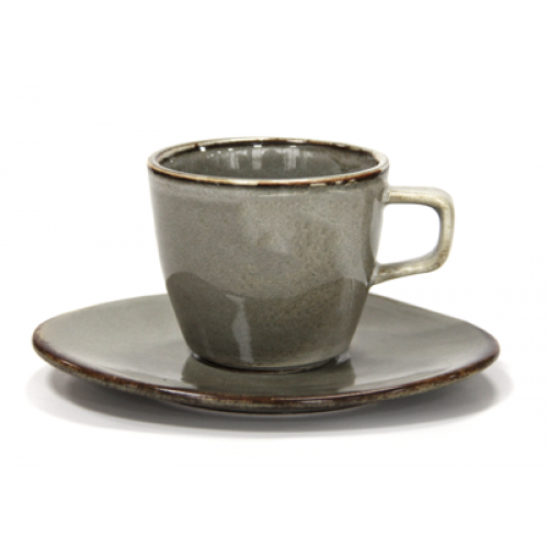ANTIQUE-GREY- Чашка с чинийк...