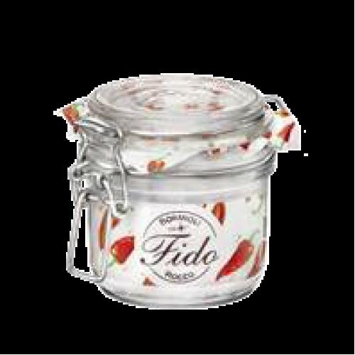 FIDO-Стъклен буркан с кл...