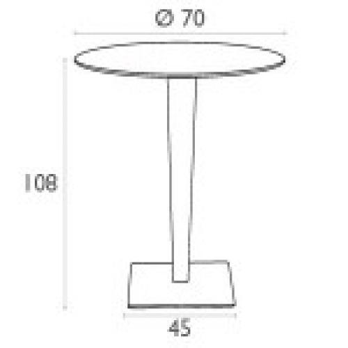 SI-Бар маса ратан кръг 7...