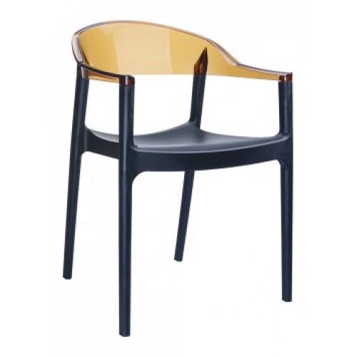SI-Стол CARMEN(059)-Black/Amber Tran...