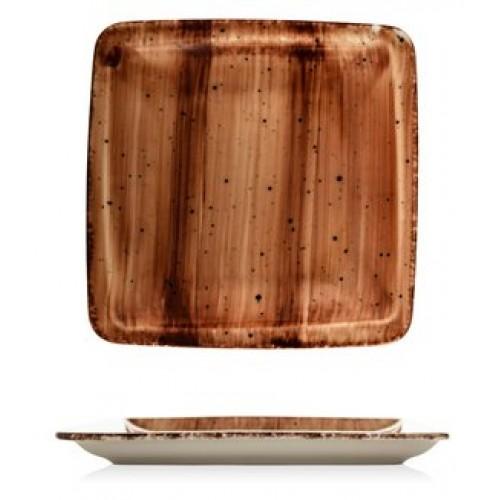 ГП-BROWN-Квадратна чиния...