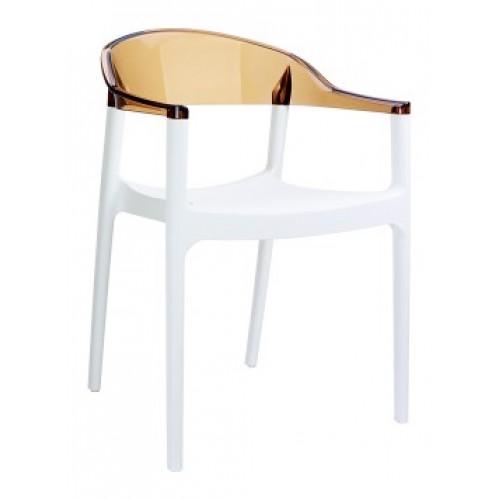 SI-Стол CARMEN(059)-White/Amber Tran...